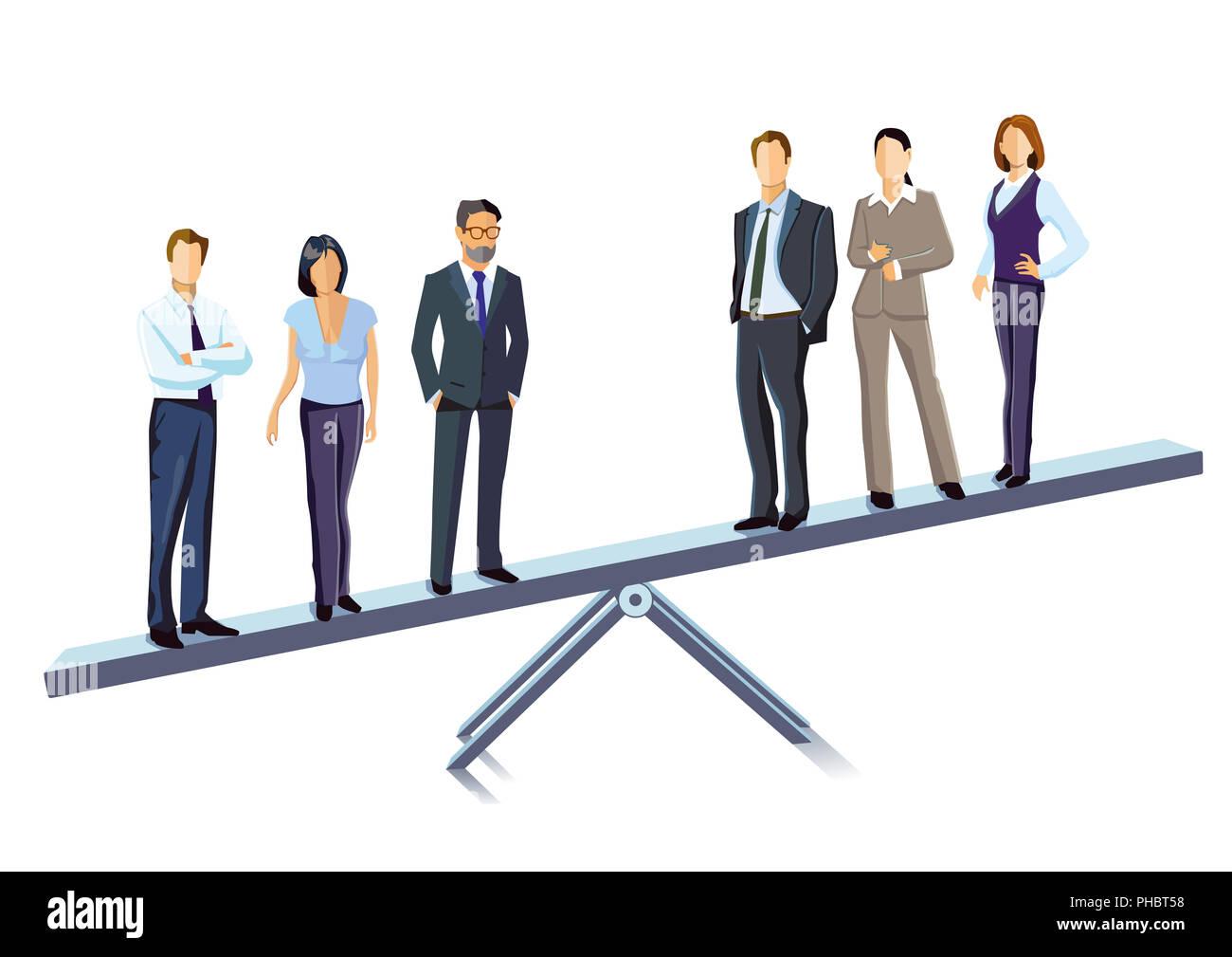 Balance, compensation, equipoise illustration - Stock Image
