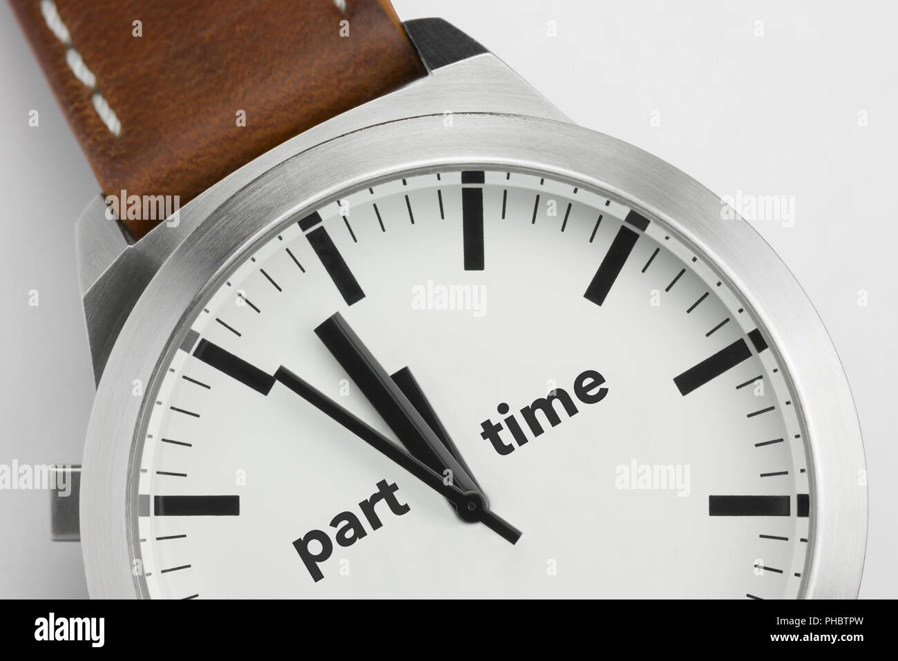 Watch with text Part Time - Stock Image