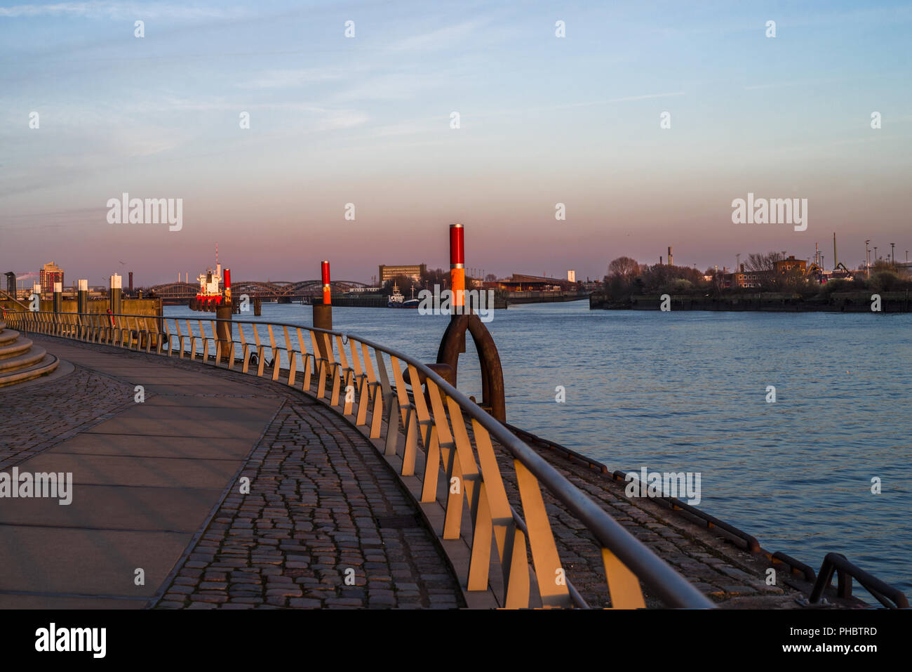 View of the port on the same - Stock Image
