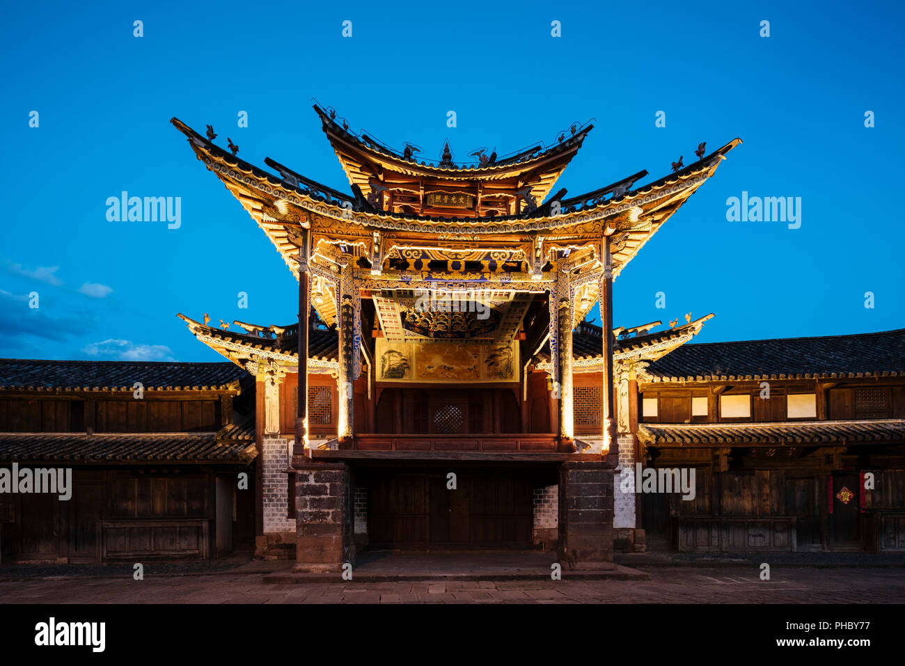 The Three Terraced Pavilion, Shaxi, Yunnan Province, China, Asia Stock Photo