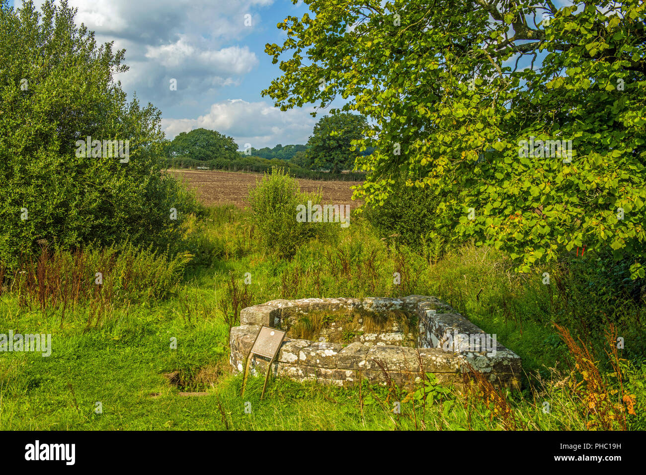 The Virtuous Well at Trellech Monmouthshire Stock Photo