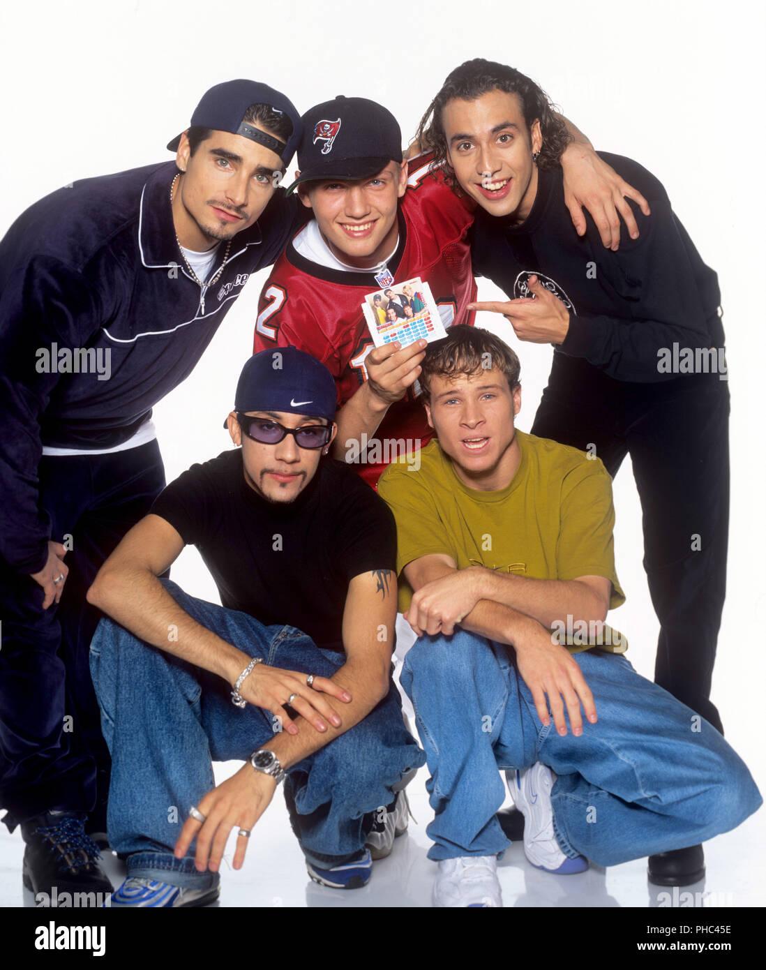 Backstreet Boys (l-r): Kevin Richardson, Alexander James McLean, Nick Carter, Brian Littrell, Howie Dorough on 15.07.1998 in Washington. | usage world - Stock Image