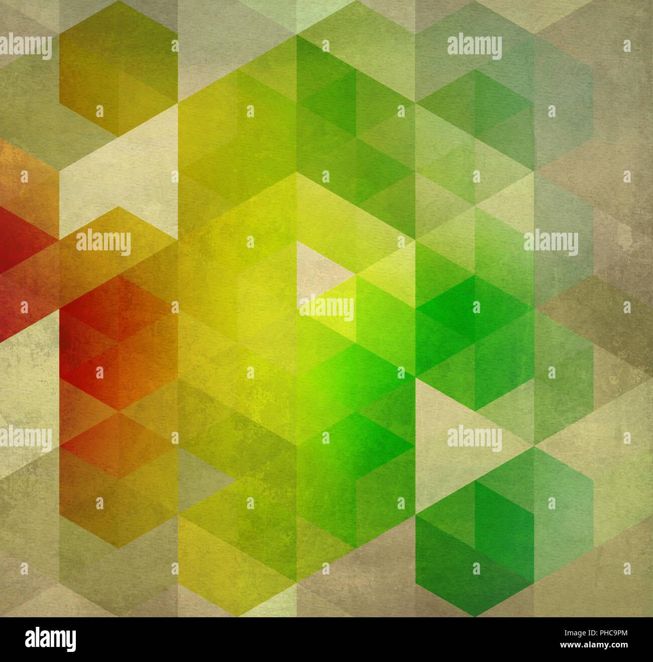 abstract mixed media artwork geometric - Stock Image
