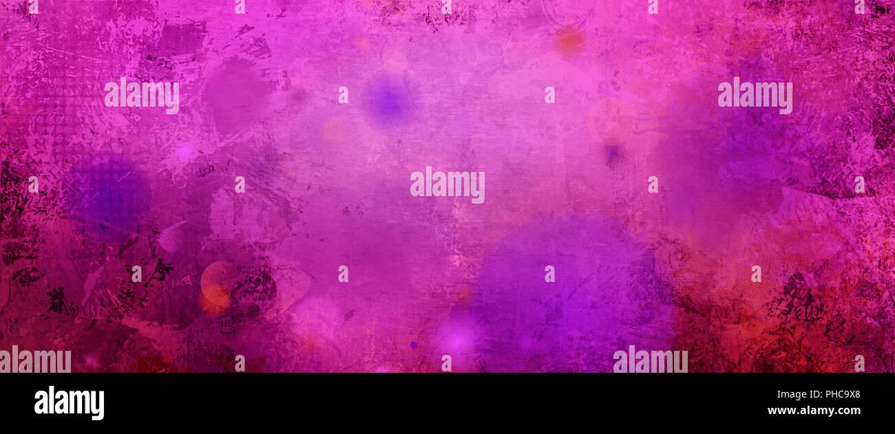 abstract red pink magenta tones mixed media artwork - Stock Image