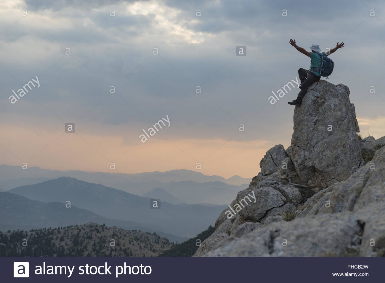 despite the challenges achieve  successful people - Stock Image