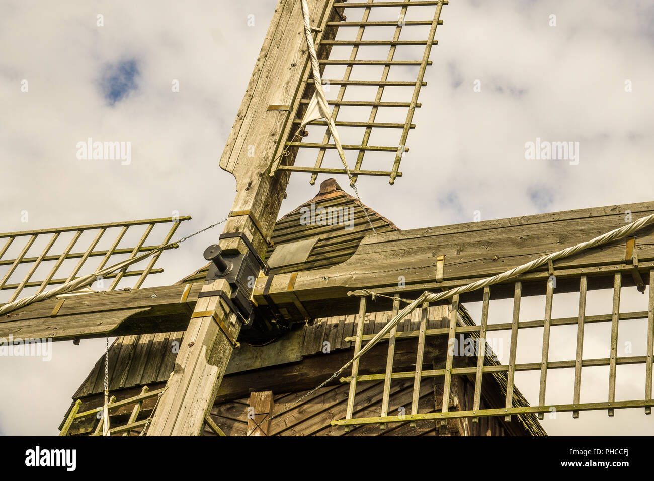 Mill of wood, detailed admission - Stock Image