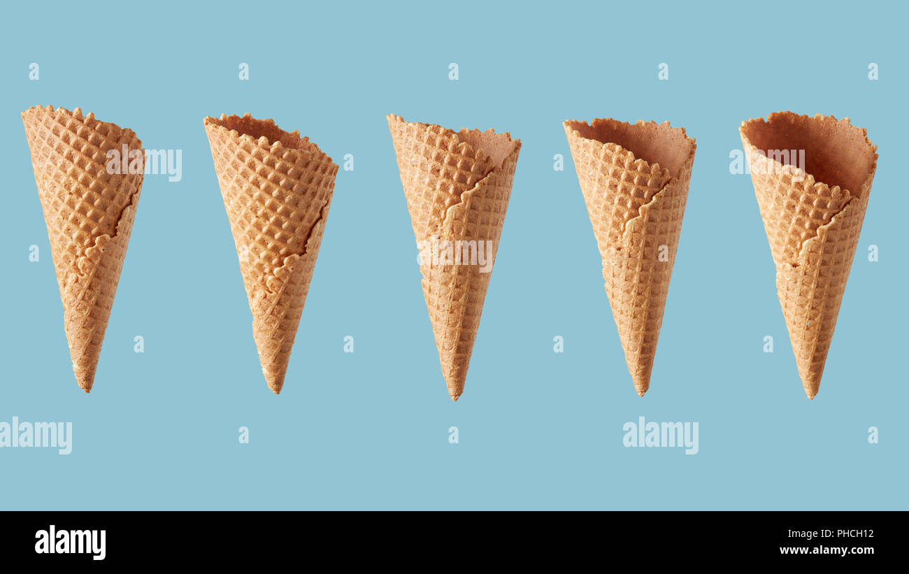 perspectives of wafer sugar cone - Stock Image