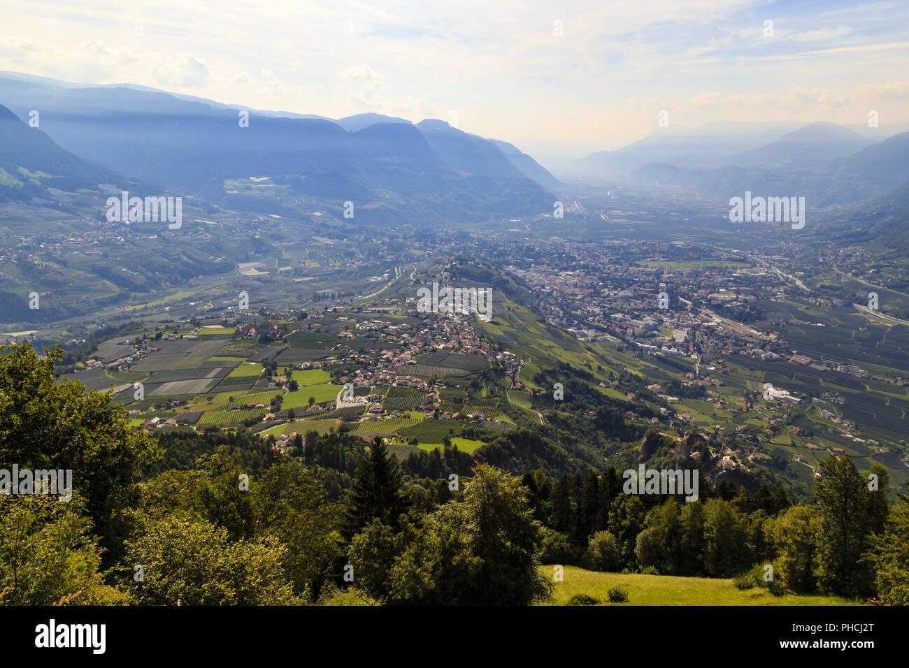 Meran and the valley of Adige, Italy - Stock Image