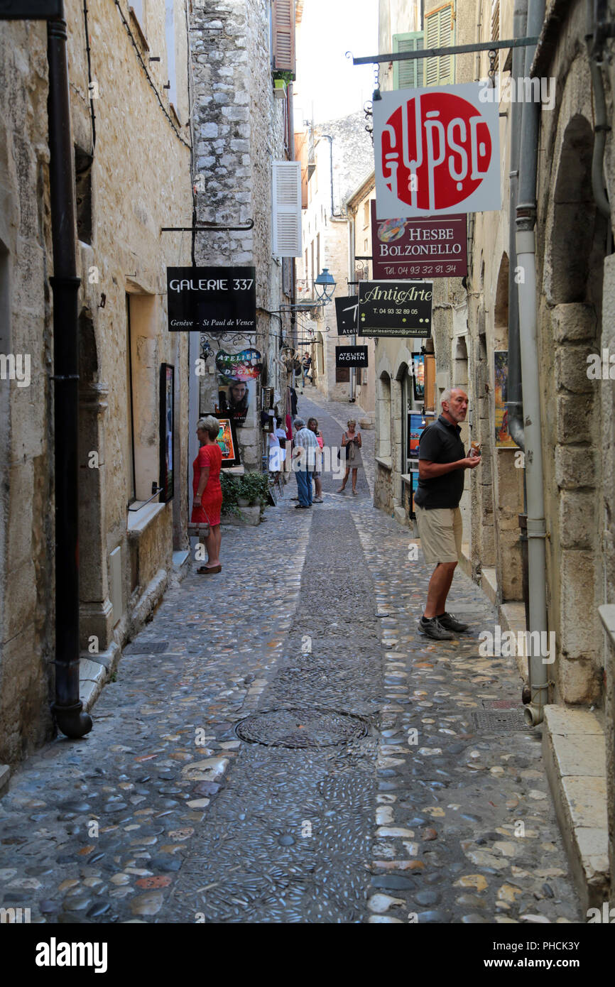 Saint-Paul de Vence, typical flair in the old town - Stock Image