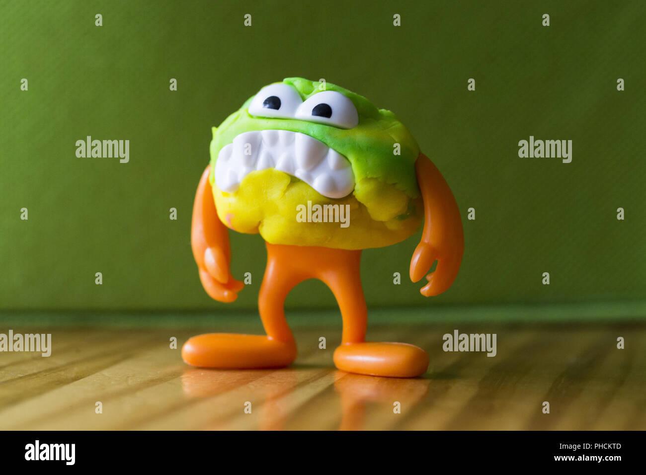 modeling clay figure - Stock Image
