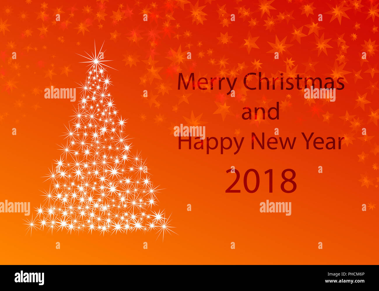xmas greeting card for new years 2018 Stock Photo: 217252862 - Alamy