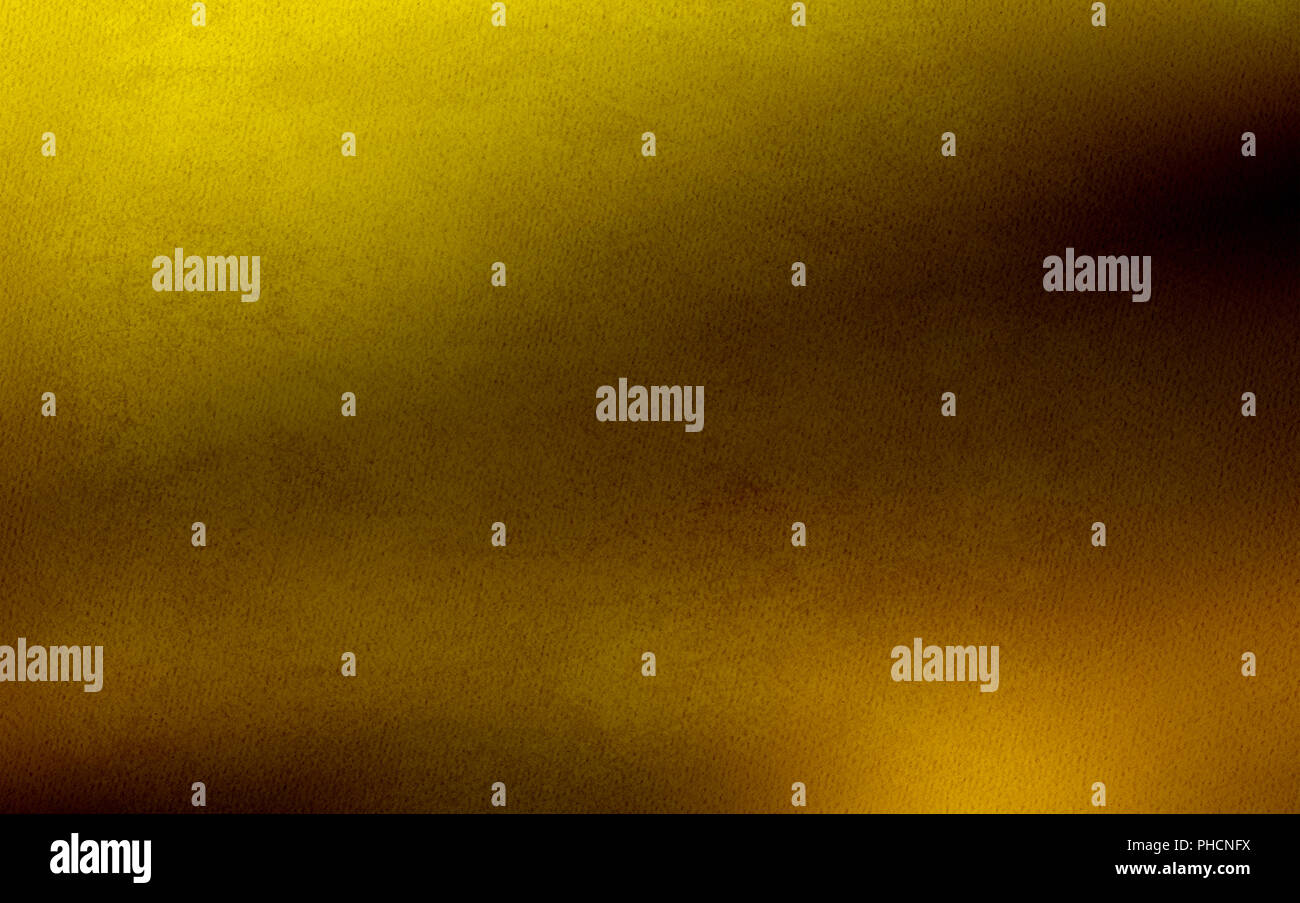 gold background gleam gradient - Stock Image