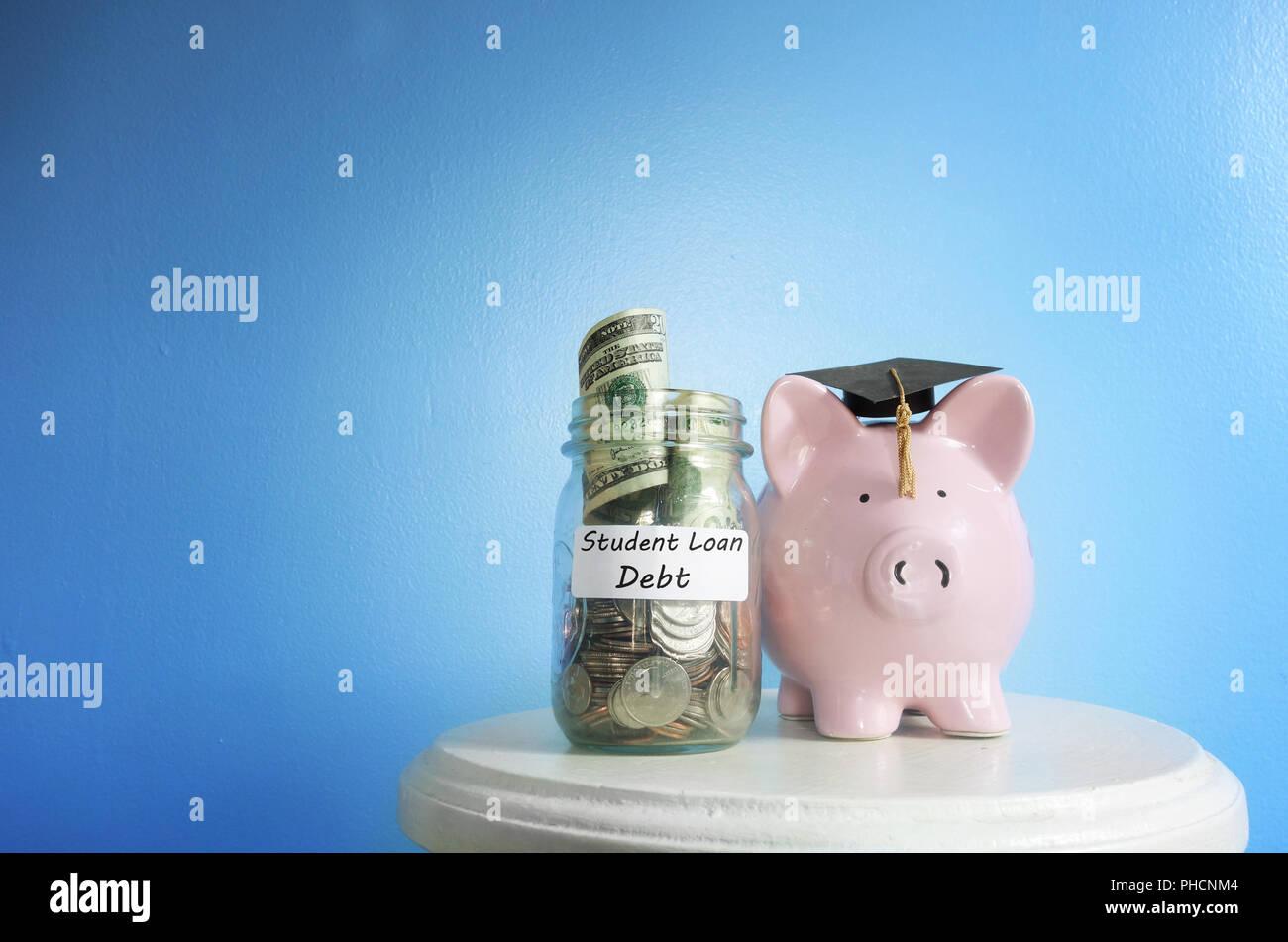 Student Loan debt - Stock Image