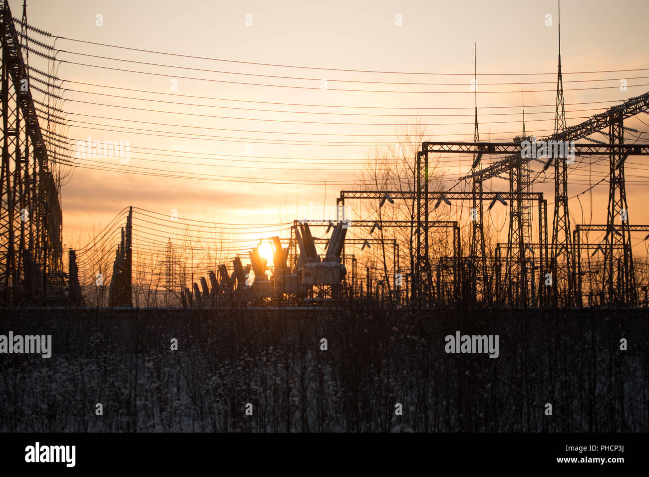 Electrical substation. - Stock Image