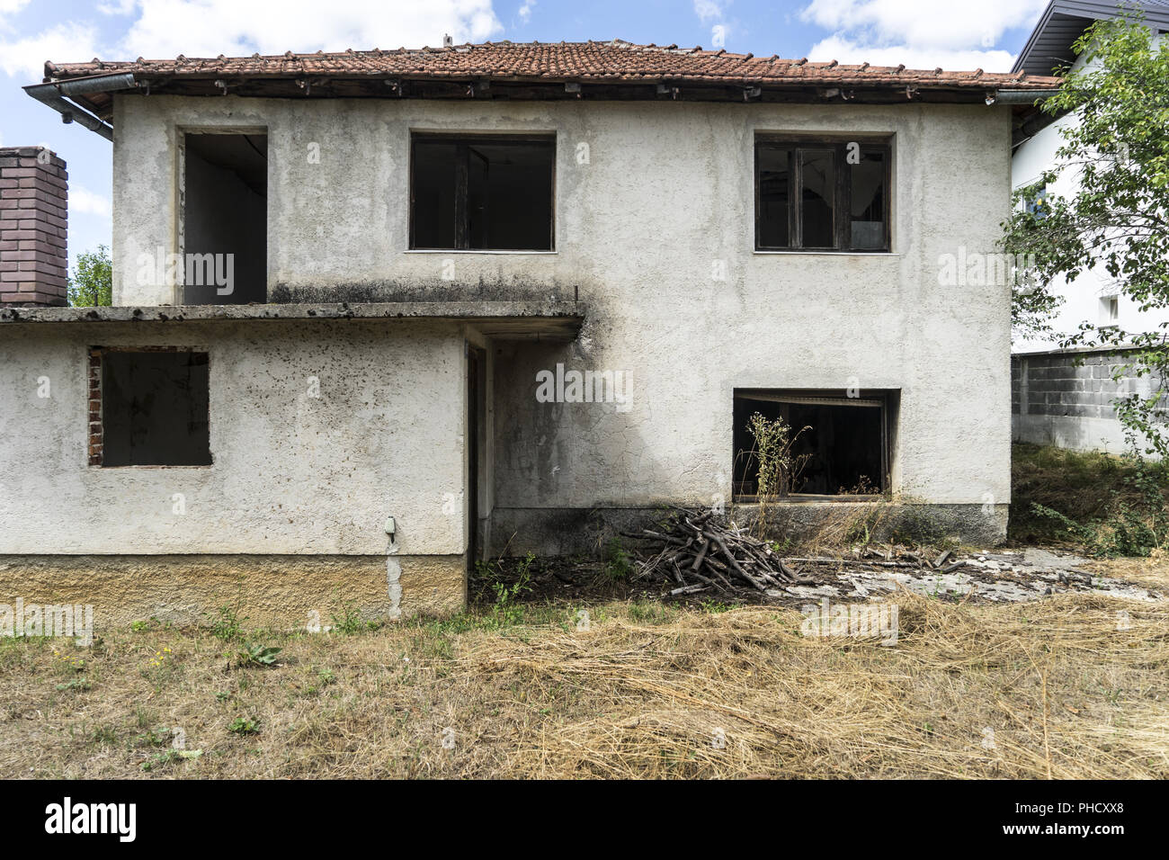 Destroyed House from the Bosnian War, Bosnia - Stock Image