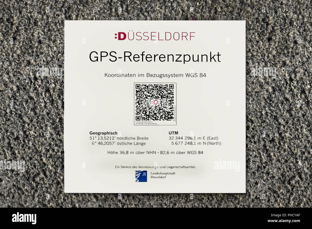 GPS reference point - Stock Image