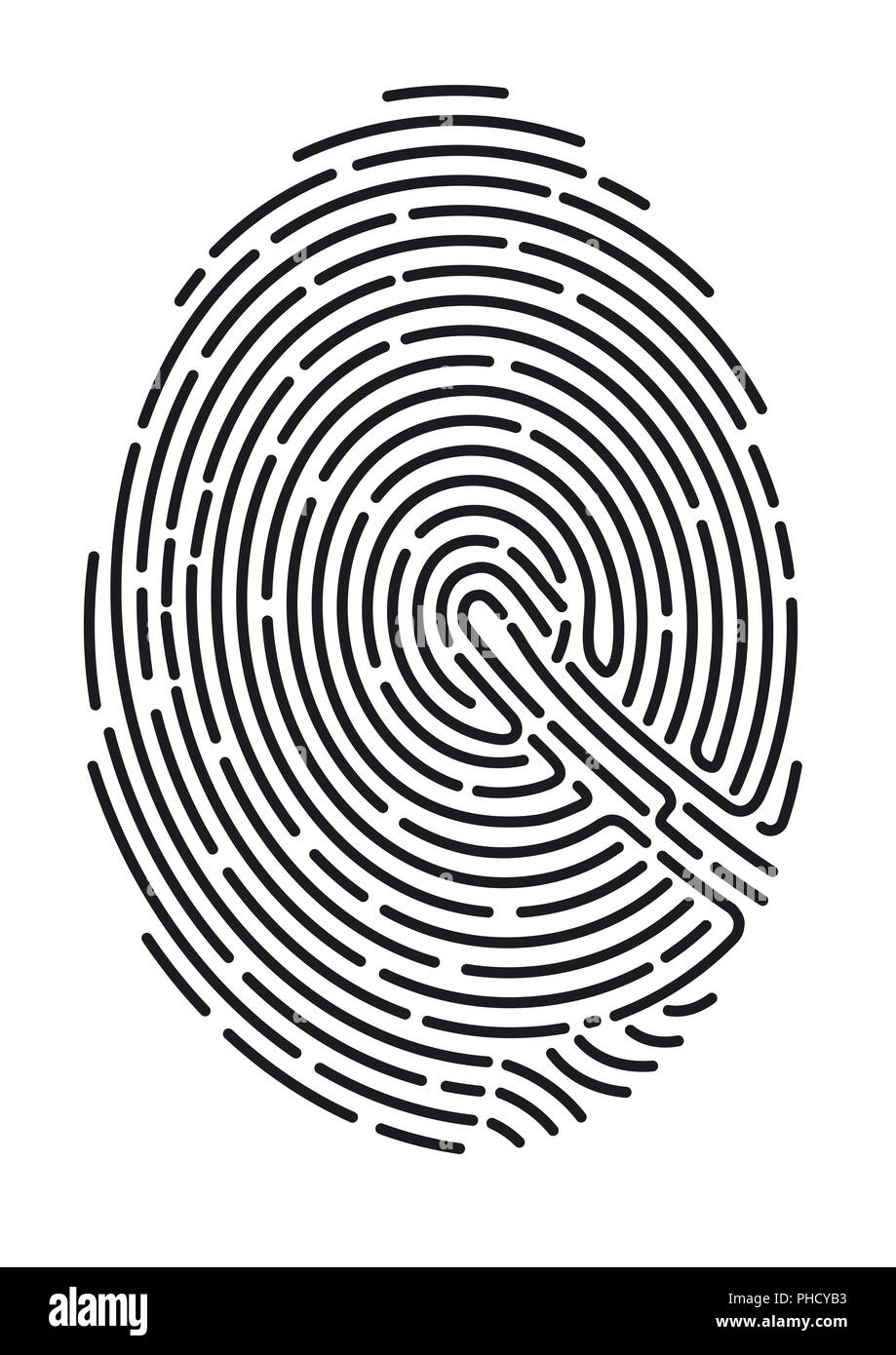 fingerprint. Secure identification - Stock Image