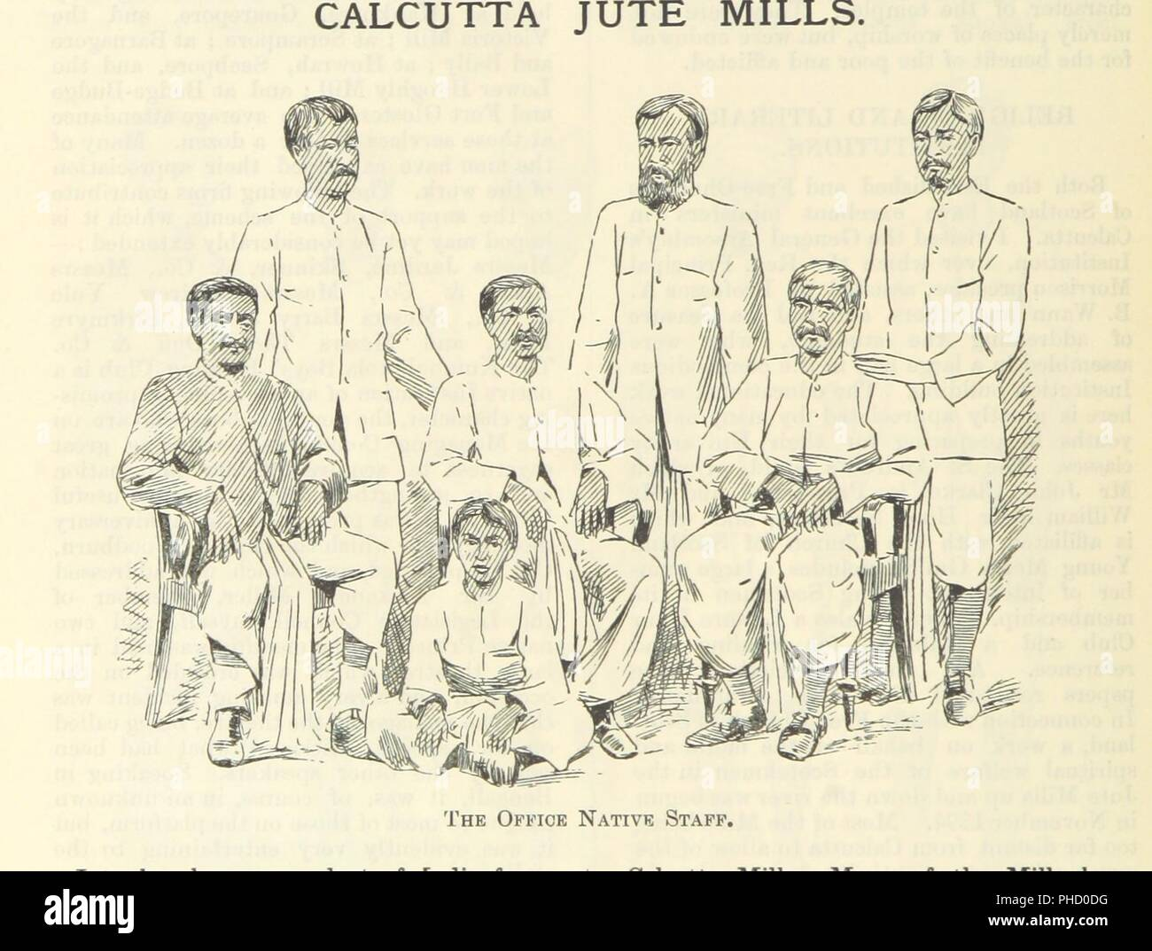 """Image  from page 106 of 'Letters from India and Ceylon, including the Manchester of India, the Indian Dundee, and Calcutta jute mills . 1895-96. Reprinted from the """"Dundee Advertiser.""""' . - Stock Image"""