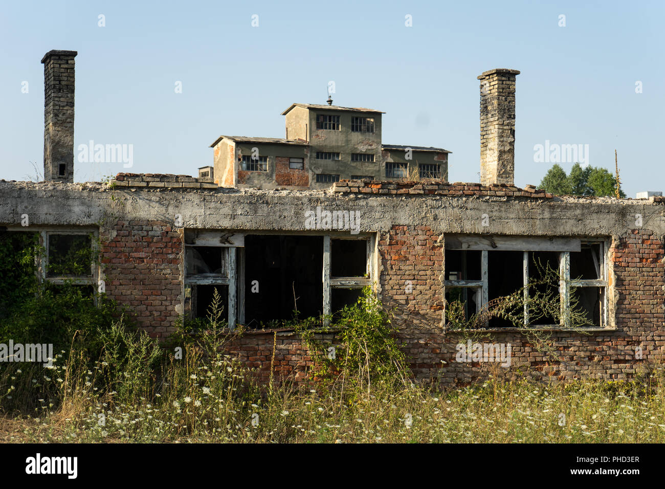 Destroyed Coal Mine from the Bosnian War, Bosnia - Stock Image