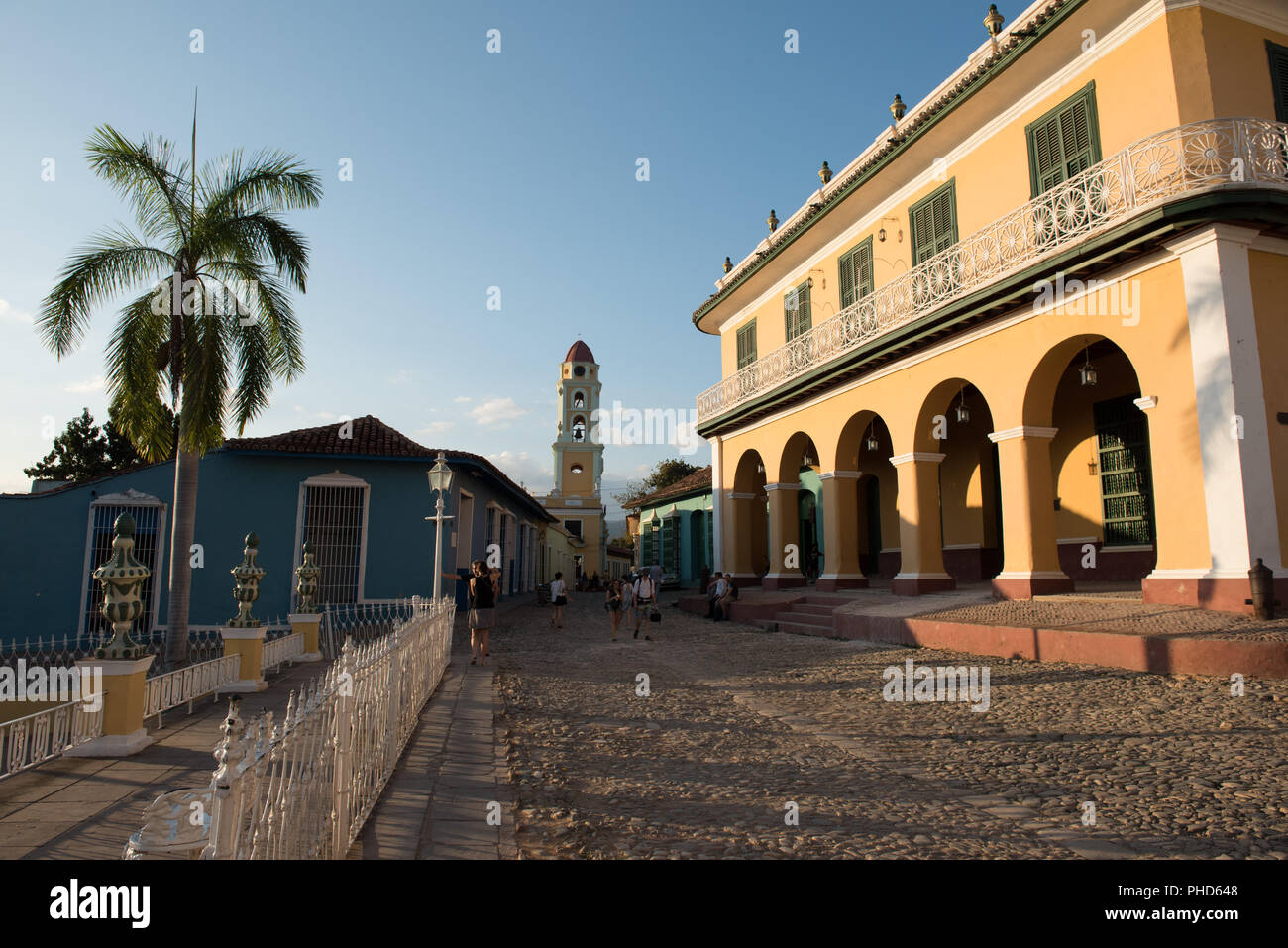 Trinidad, Cuba / March 15, 2016: Historic home of the wealthy Borrell family, the colonial building now houses the Romantic Museum (Museo Romántico.) - Stock Image