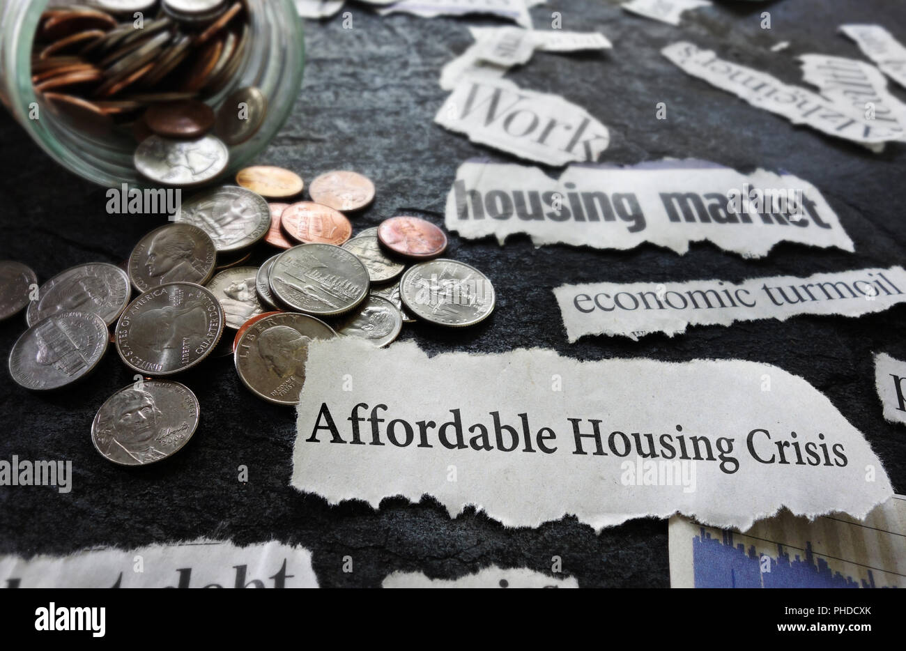 Affordable Housing Crisis news - Stock Image