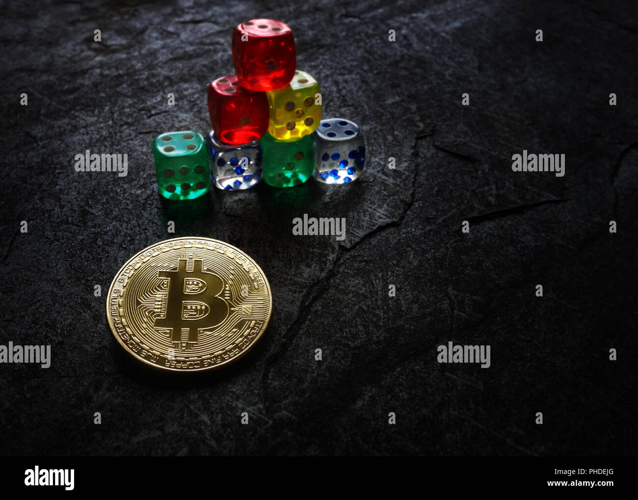 Investing in bitcoins - Stock Image
