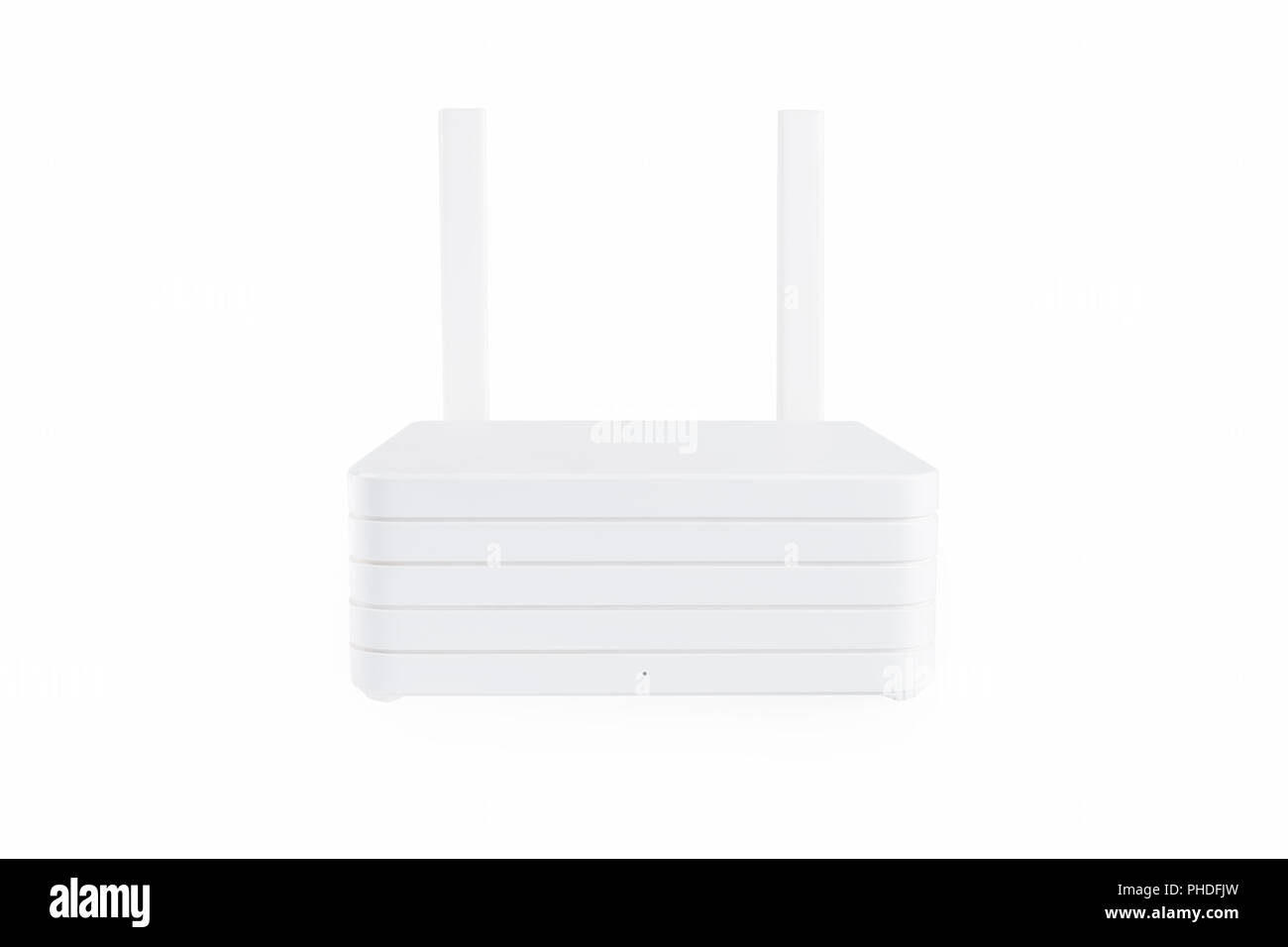 white router isolated - Stock Image