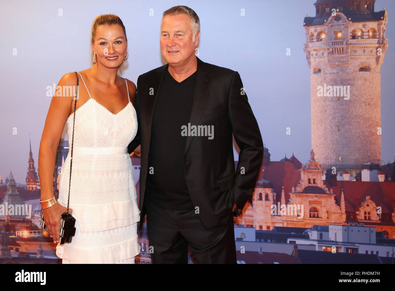 Franziska van Almsick and significant other Jürgen B. Harder - Stock Image