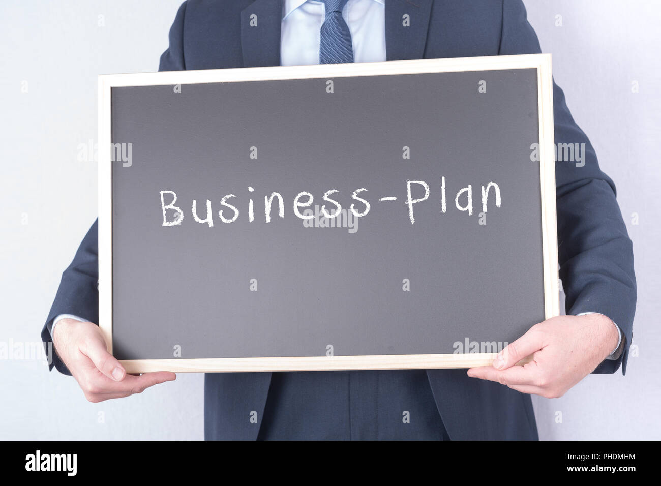 Business plan for start-ups companies - Stock Image