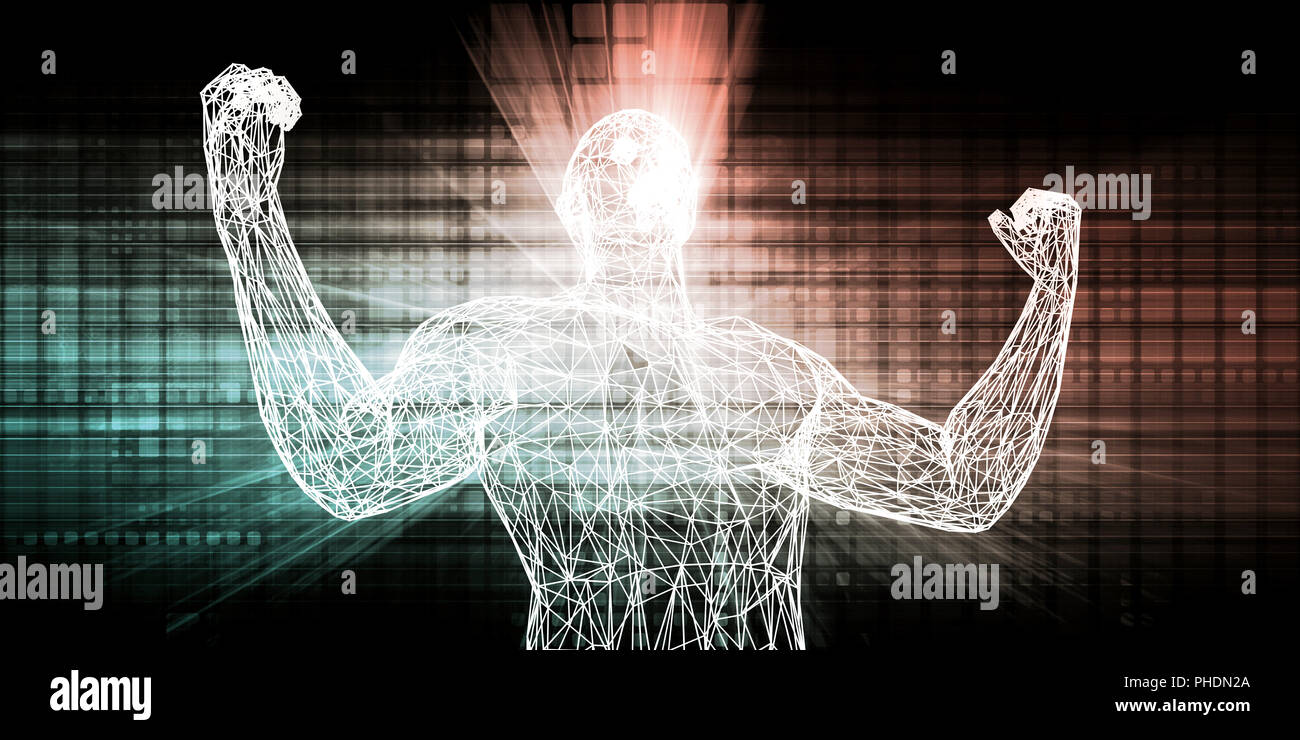 Nanotechnology and Science Technology Abstract Background Art - Stock Image