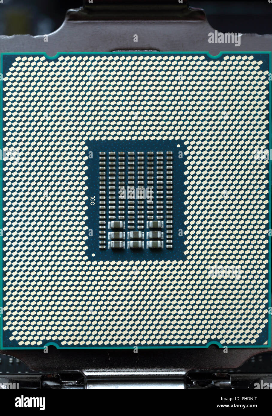 modern cpu computer chip - Stock Image