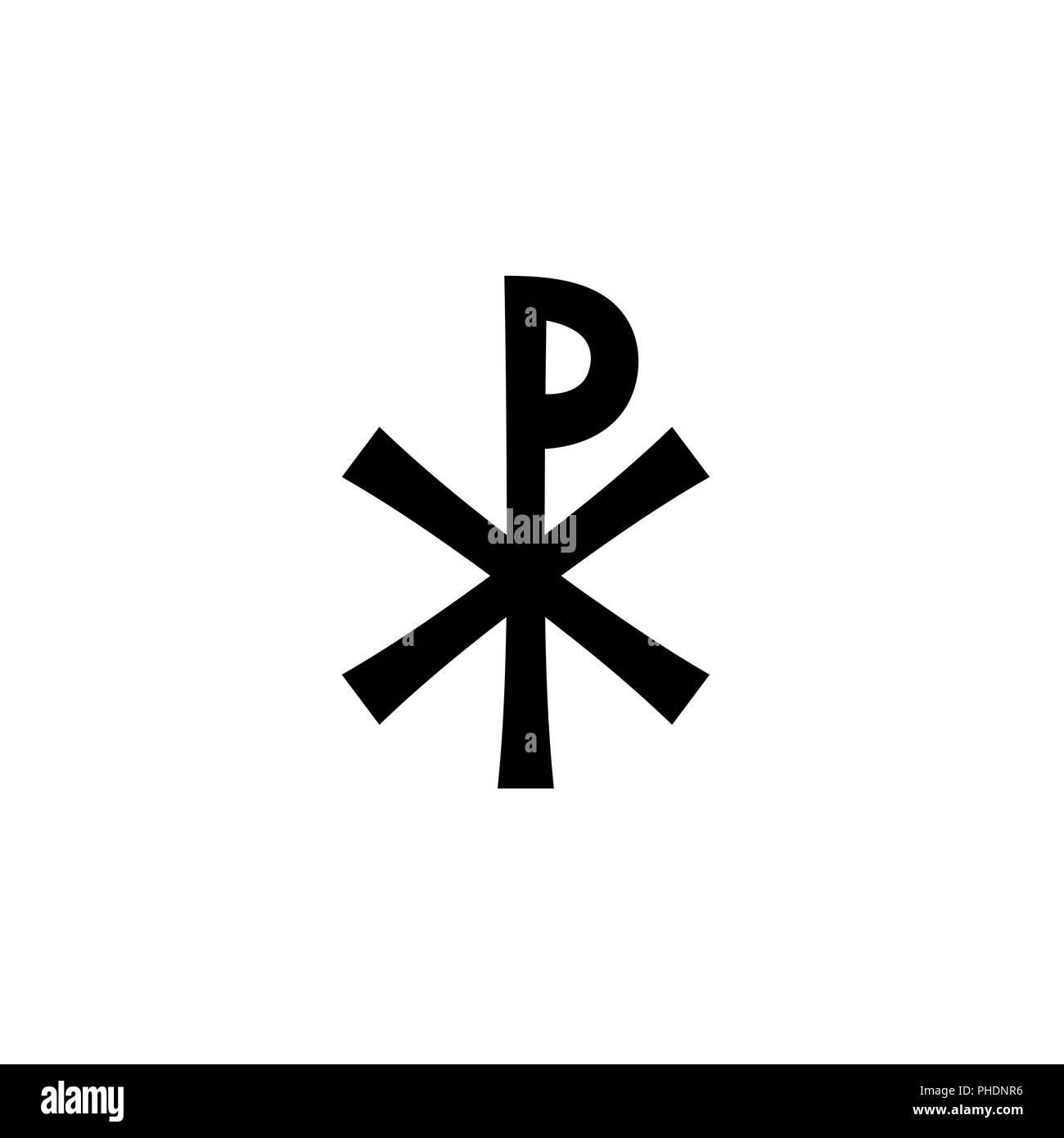 Christian monogram of Jesus Christ (Christogram) - Stock Image