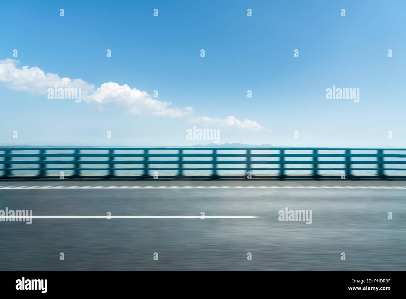road motion blur background - Stock Image