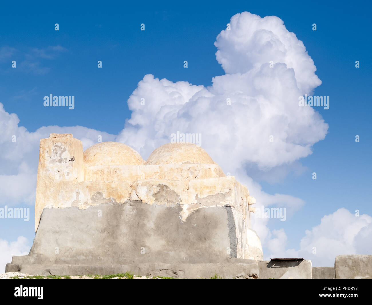 South of Tunisia, Djerba,the ancient Fadh Loon mosque - Stock Image