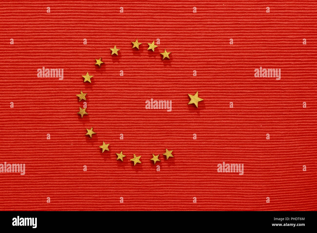 Turkish flag, flat lay - Stock Image