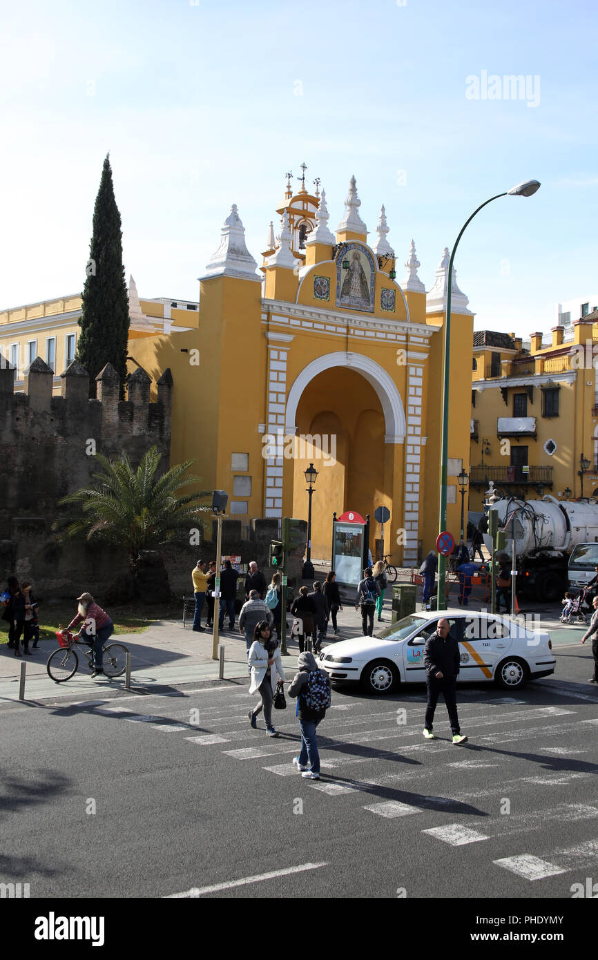 macarena gate to the old town - Stock Image