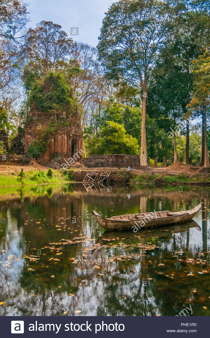 The moat at Prasat Thom, Koh Ker, Cambodia. - Stock Image