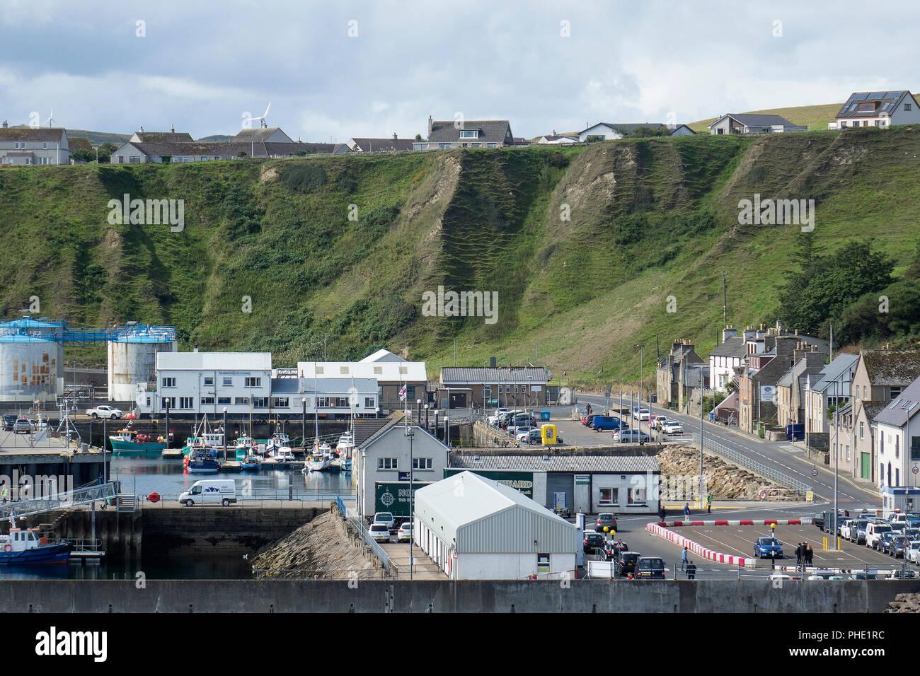 Scotland, Highlands, Caithness, Scrabster harbour - Stock Image