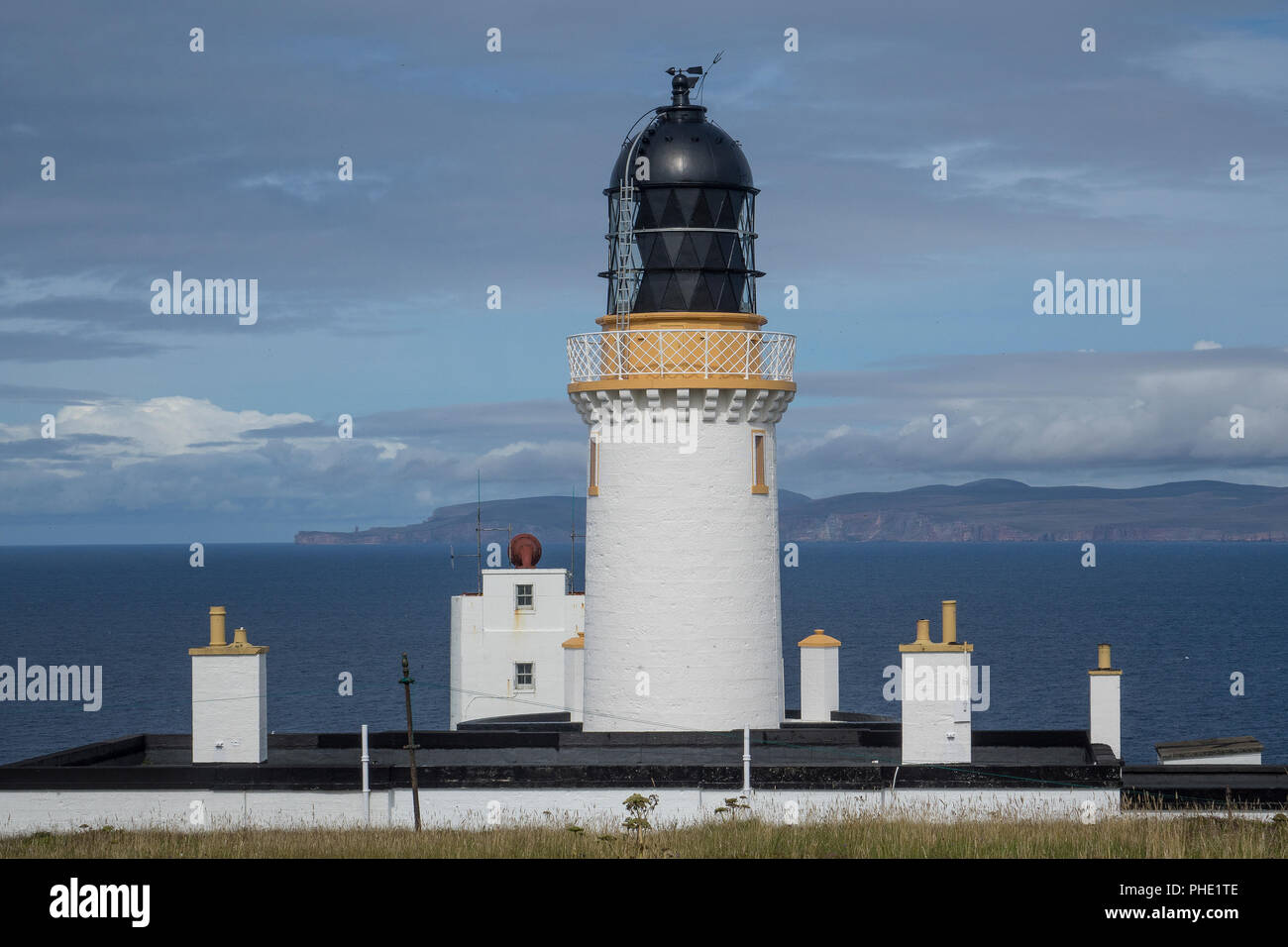 Scotland, Highlands, Caithness, Dunnet Head Lighthouse - Stock Image