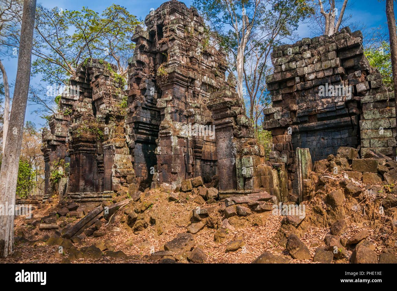 Prasat Chrap in the Koh Ker complex, Cambodia. - Stock Image