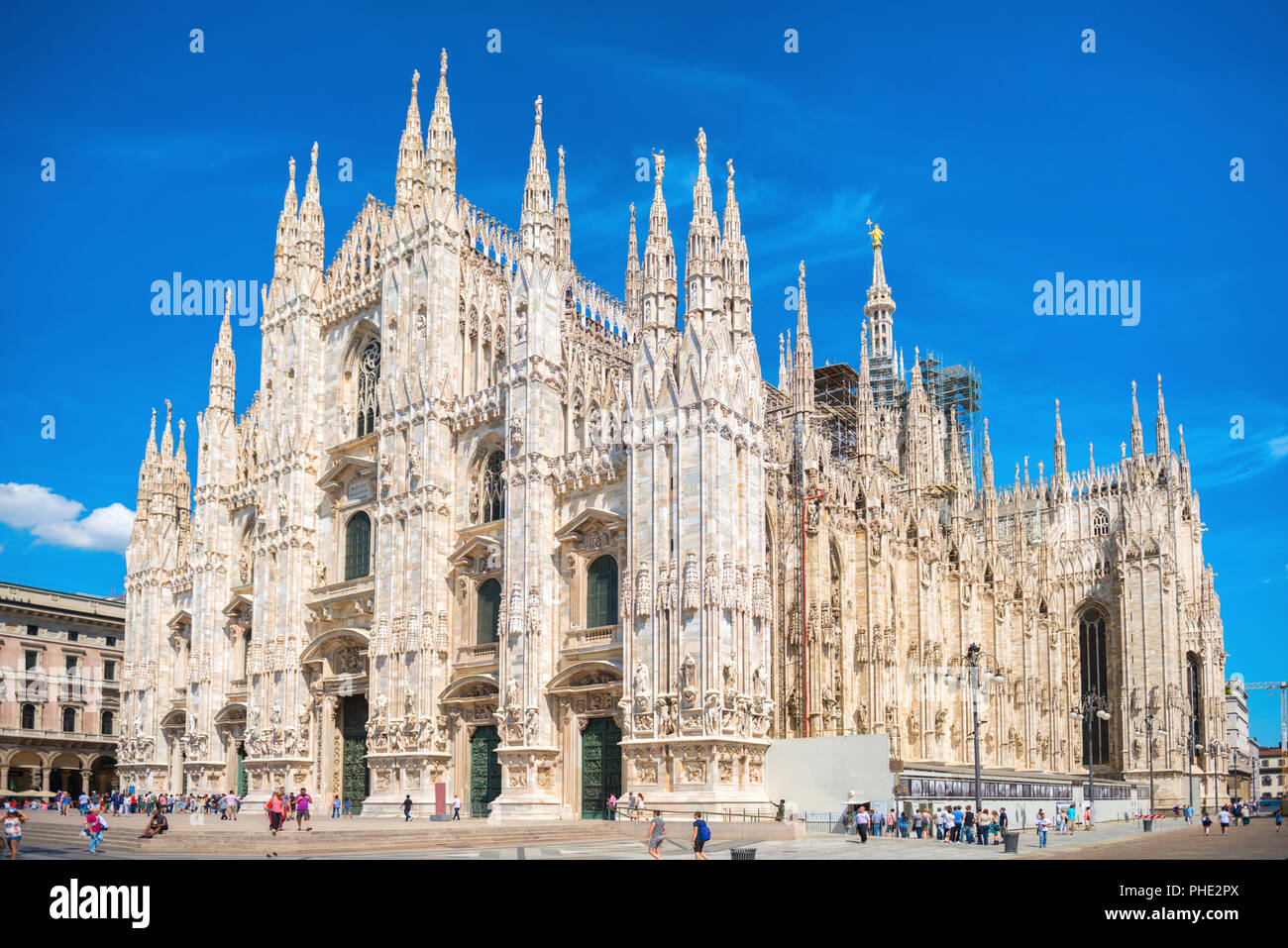 Daytime view of famous Milan Cathedral Duomo - Stock Image