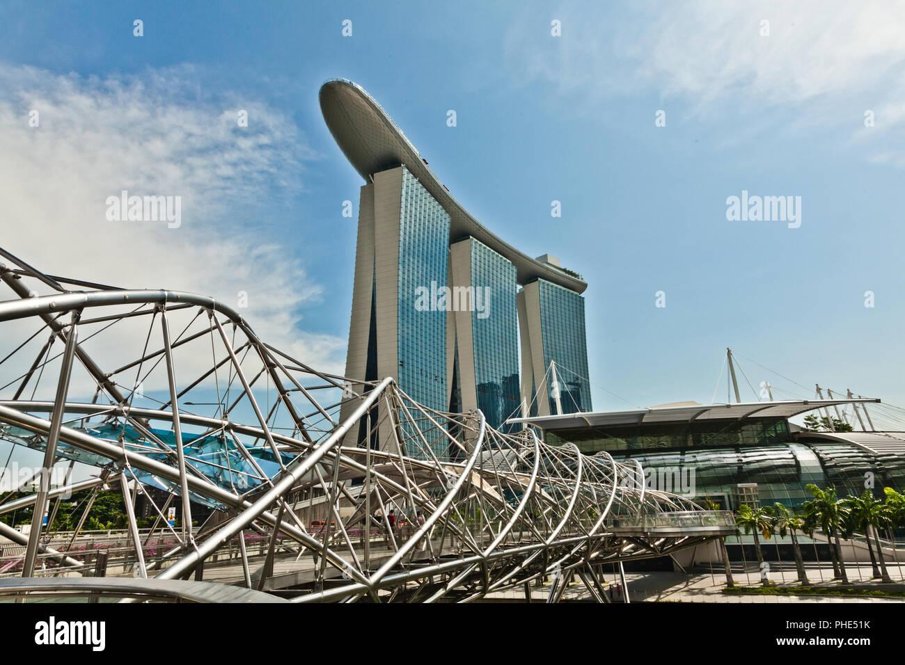 SANDS COMPLEX, MARINA BAY, SINGAPUR. - Stock Image