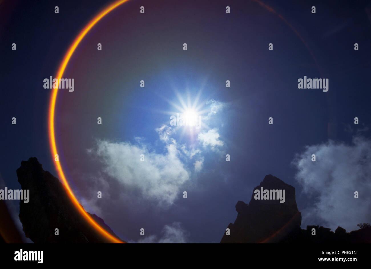 SUN AURA - Stock Image