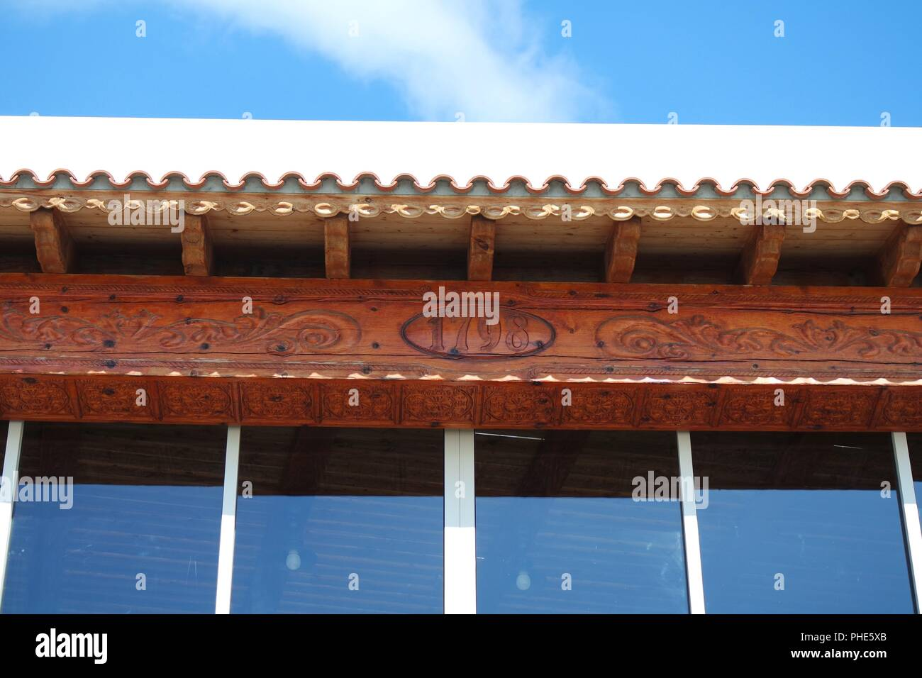 roof cornice - Stock Image