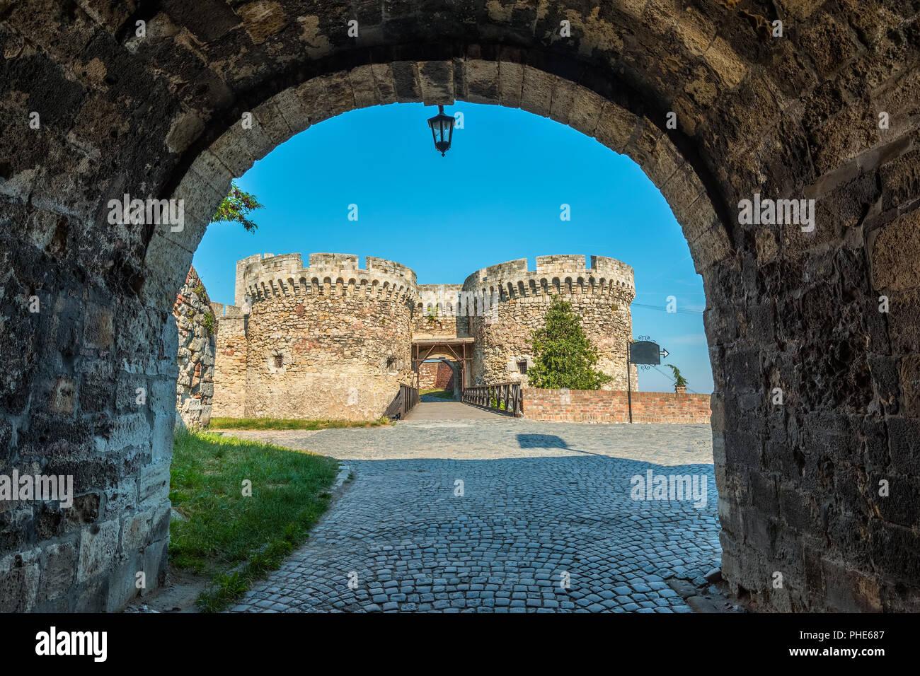 Kalemegdan fortress in Belgrade, Serbia - Stock Image