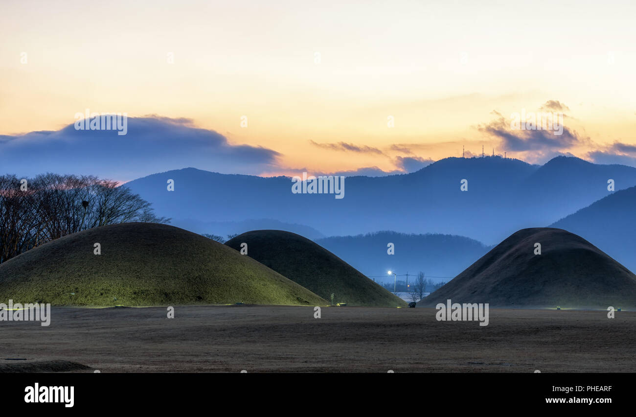 naemul of silla royal mounds Stock Photo