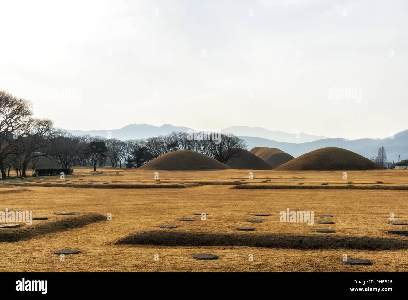 naemul of silla royal mounds Stock Photo