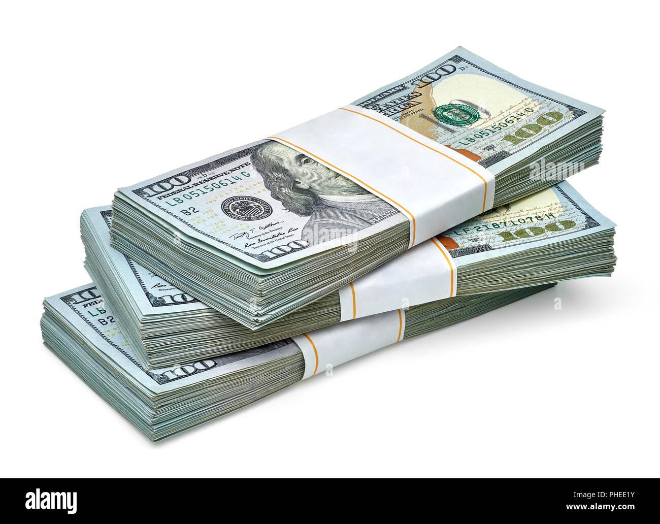Bundles Of Hundred Dollar Bills Stock Photos Bundles Of