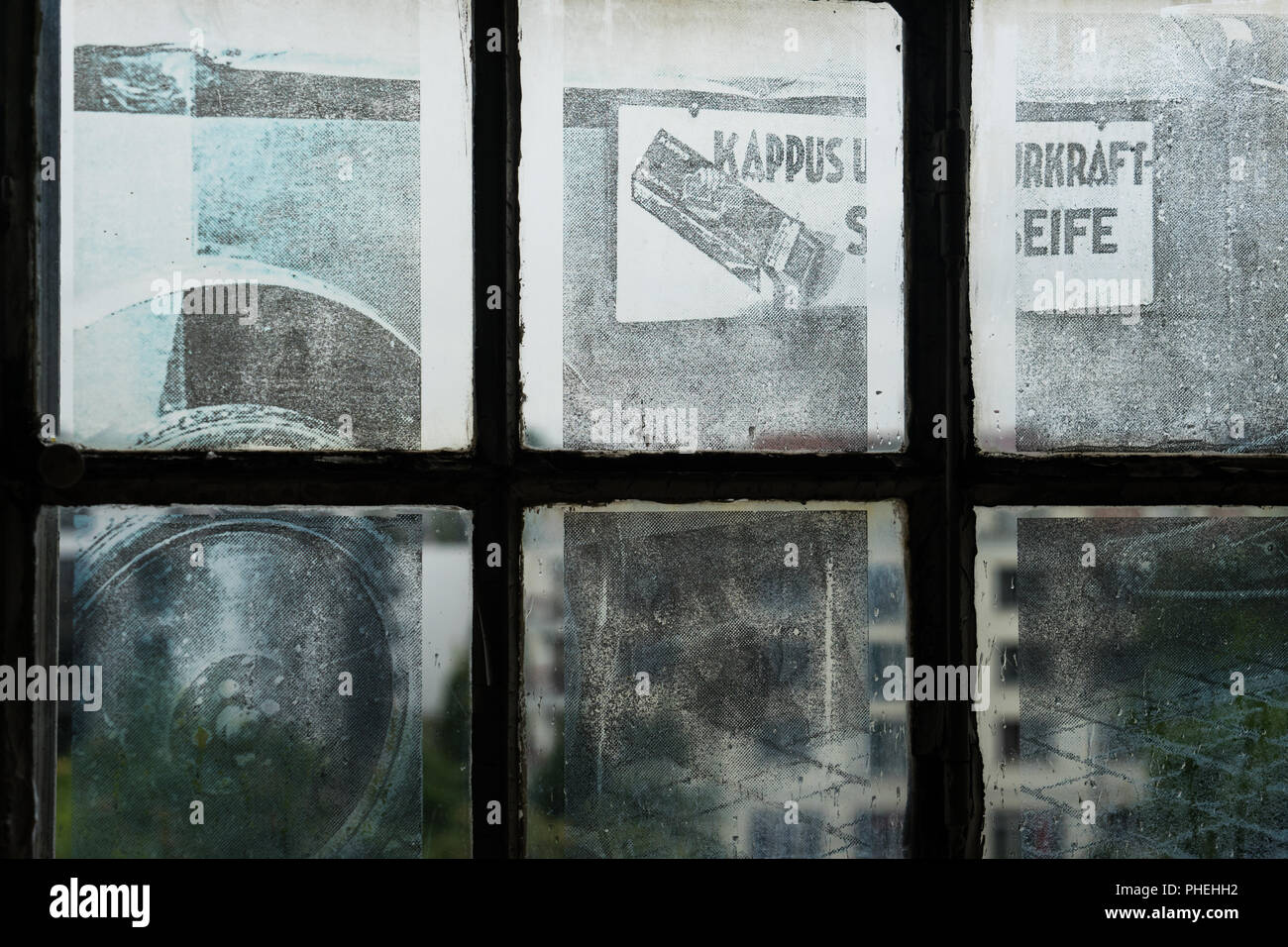 Historic Promotion Photo of an Soap Factory - Stock Image
