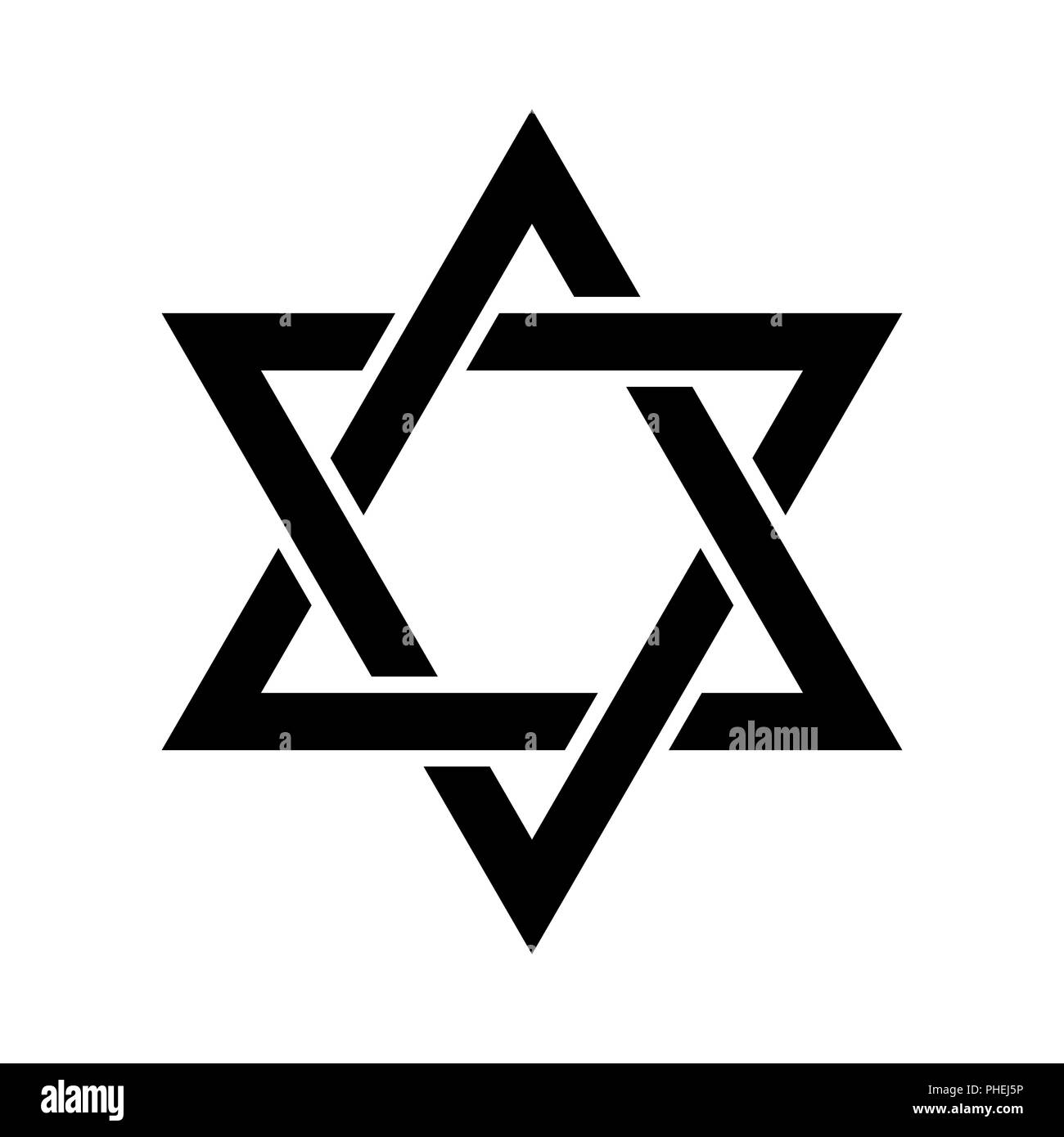 The Star of David (or The Shield of David) Stock Photo